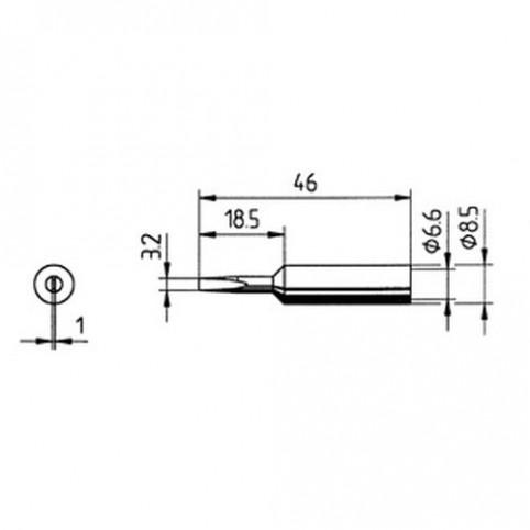 ERSA Lötspitze gerade meißelförmig 3,2 mm für RDS80/Analog 60/MULTI-TC