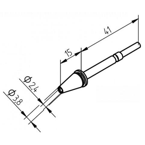 ERSA Entlötspitze für X- Tool Durchmesser innen 2,4 mm außen 3,8 mm