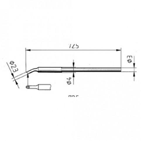 ERSA Lötspitze gebogen MicroWell 2,3 mm für Micro-Tool uvm.