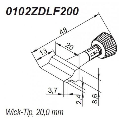 ERSA ERSADUR Lötspitze für i-Tool Wick-Tip 20,0 mm