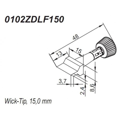 ERSA ERSADUR Lötspitze für i-Tool Wick-Tip 15,0 mm