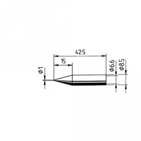 ERSA Lötspitze gerade bleistiftspitz 1,0 mm für RDS80/Analog/60/Multi-TC