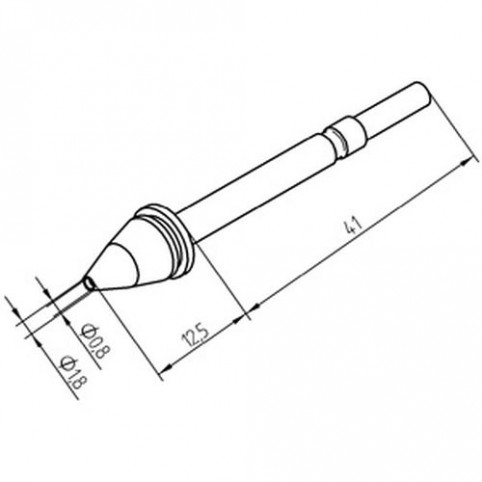 ERSA Entlötspitze für X- Tool innen 0,8 mm außen 1,8 mm vernickelt