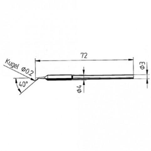ERSA Lötspitze gebogen bleistiftspitz 0,2 mm für Micro-Tool uvm.