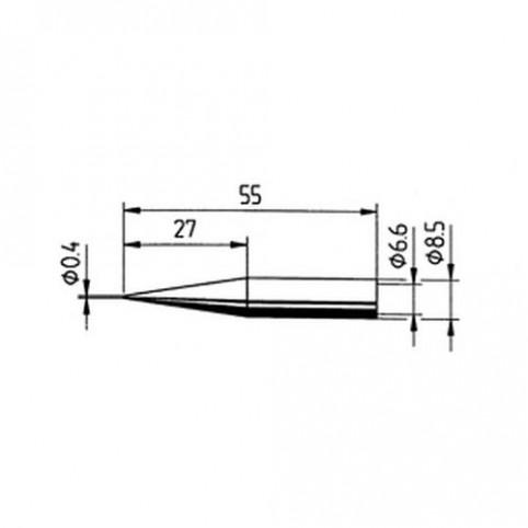 ERSA Lötspitze gerade verlängert bleistiftspitz 0,4 mm für RDS80/ANALOG60