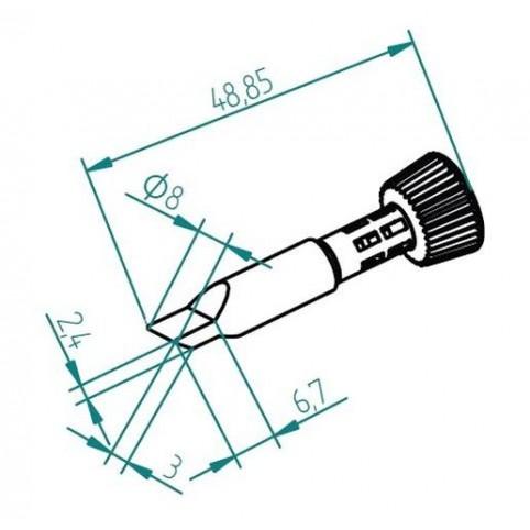 ERSA ERSADUR Lötspitze für i-Tool Wick-Tip 8,0 mm