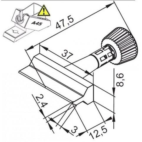 ERSA ERSADUR Lötspitze für i-Tool Wick-Tip 37,0 mm