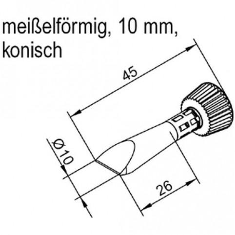 ERSA ERSADUR Lötspitze für i-Tool gerade konisch meißelförmig 10,0 mm