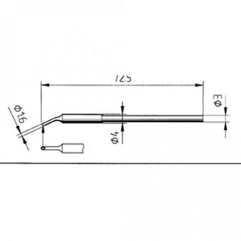 ERSA Lötspitze gebogen MiniMicroWell 1,6 mm Micro-Tool uvm.