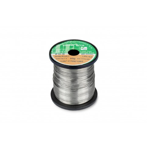 Interflux Lötdraht IF14-16 Sn99,3Cu0,7 FM 1,60% REL0 0,35mm auf 100g Spule