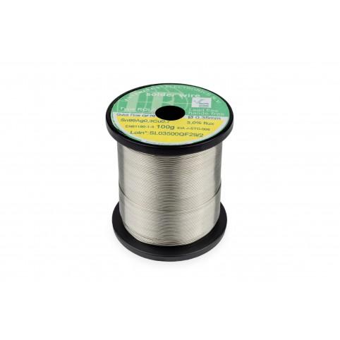 Interflux Lötdraht QF70 Sn99Ag0,3Cu0,7 FM 3,0% ROL0 0,35mm auf 100g Spule