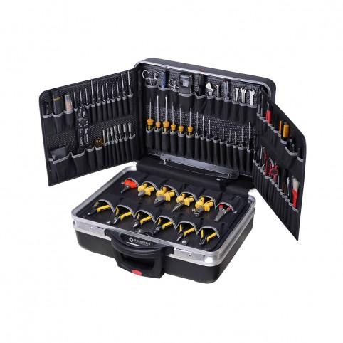 Bernstein rollbarer Service-Koffer BOSS mit 110 Werkzeugen