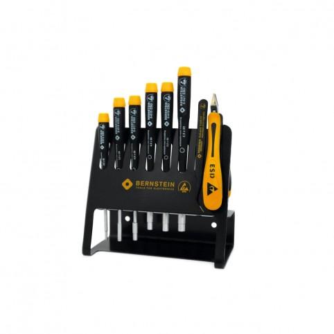 Bernstein 8-teiliger Satz Steckschlüssel Seitenschneider Pinzette auf Vario Werkzeughalter leitfähig