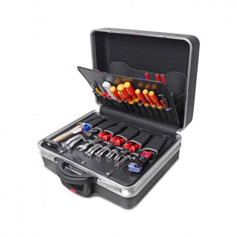 Bernstein rollbarer Service-Koffer TELECOM mit 115 Werkzeugen