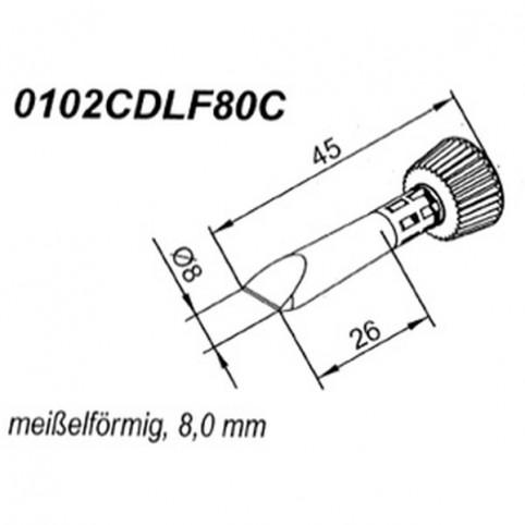 ERSA ERSADUR Lötspitze für i-Tool gerade- konisch meißelförmig 8,0 mm