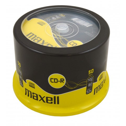 MAXELL CD-R 80 XL 52x speed 700MB 50er Spindel