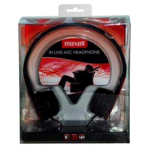 MAXELL HP-MIC Kopfhörer mit Mikrofon, rot 3,5mm Klinke