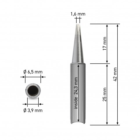 QUICK Dauerlötspitze für 3103/3104/TS1100 gerade meißelförmig 1,6mm breit