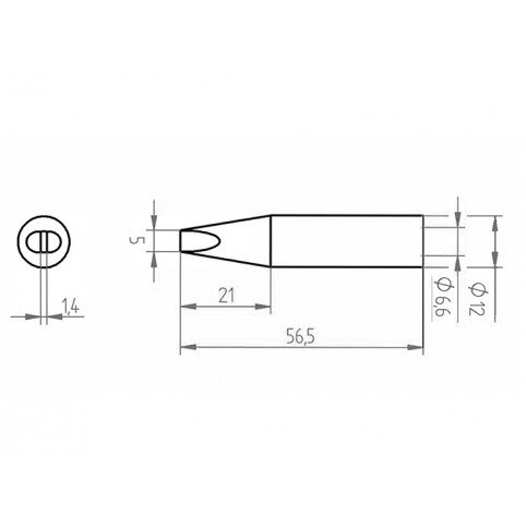 ERSA ERSADUR Lötspitze gerade meißelförmig 5,0mm optimiert für Lötkolben Ersa 35+
