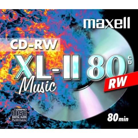 MAXELL CD-RW 80 wiederbeschreibar MU für Musik 52x speed 700MB 1er Jewelcase