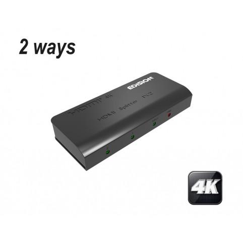 EDISION 4k HDMI Splitter 1x2 Verteiler Ultra HD 2160p Full HD CEC HDCP 3D