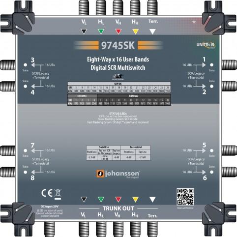 Johansson, SCR-Multischalter-Kaskade 5x8, für Unicable und Legacy-Modus