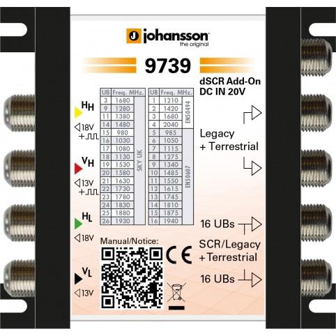 Johansson Digitaler SCR Unicable-Multischalter 4 x Sat-Eingänge
