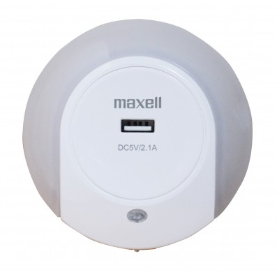 MAXELL LED Nachtlicht mit USB Ladebuchse Dämmerungssensor