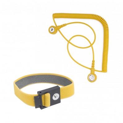 Bernstein ESD Kontaktarmband mit Spiralkabel