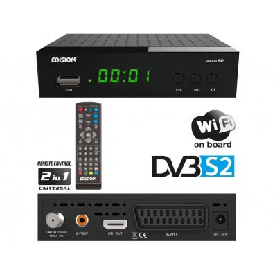 Edision Full HD Satelliten Receiver Picco S2 Sat inkl. WiFi Youtube HDMI USB