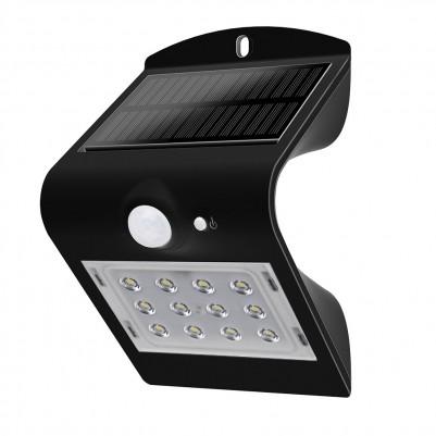 LUCECO Solar LED-Wandleuchte mit Bewegungsmelder in schwarz