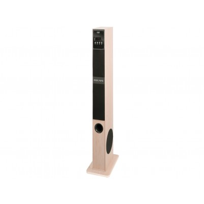 Bluetooth Lautsprecher Tower 60W holzfarben