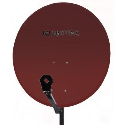 GALLUN 80cm ALU Satelitten Antenne Sat Spiegel rot