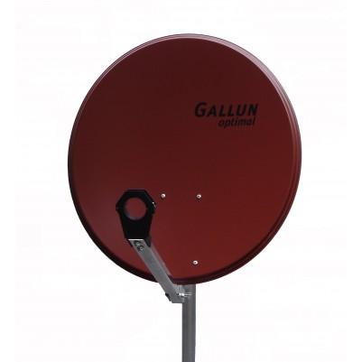 GALLUN 60cm ALU Satelitten Antenne Sat Spiegel rot