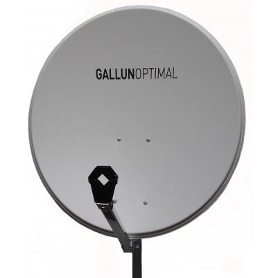 GALLUN 80cm Stahl Satelliten Antenne Sat Spiegel Digital hellgrau