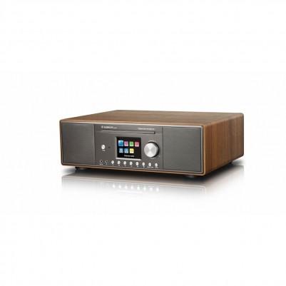 Albrecht DR890 CD-Player mit Digitalradio für DAB+, Internetradio und UKW, Wallnuss