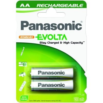 Panasonic NiMH Rechargeable EVOLTA Accu (vorgeladen) 1900mAh AA Mignon im 2er Blister