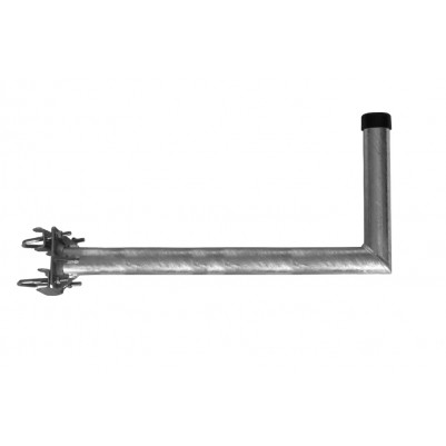 SAT Stahl Mastausleger 70 cm Feuerverzinkt mit verstrebten Rohr