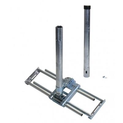 SAT Dachsparrenhalter Variante I inkl. 110cm Mast Ø 48 mm Stahl verzinkt