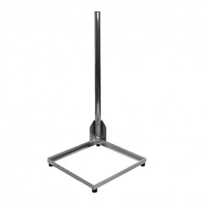 SAT Alu Balkonständer 50x50 cm mit Mast 1m in Edelstahloptik