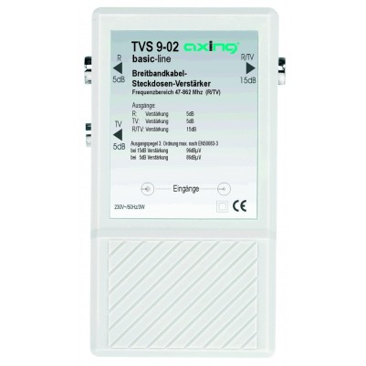 Steckdosen-Verteilverstärker,BK, 2x 5dB/ 1x 15dB