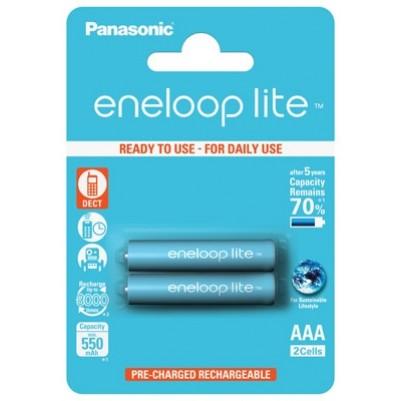 Panasonic eneloop lite Akku AAA Micro LR03 NiMH vorgeladen für DECT 550mAh im 2er Blister