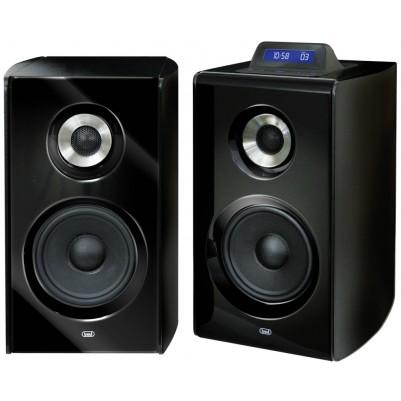 TREVI Aktiv-Lautsprecher-Boxenpaar mit USB/SD-Kartenschacht, 100W inkl. Fernbedienung schwarz