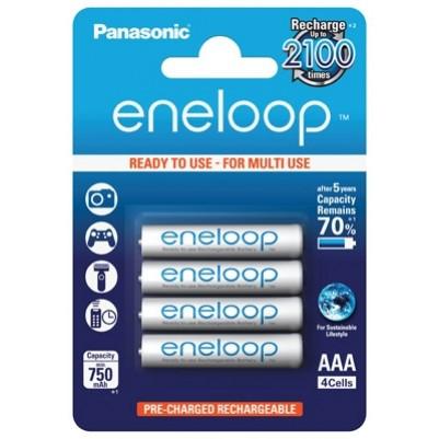 Panasonic eneloop Akku AAA Micro LR03 NiMH vorgeladen für DECT 750mAh im 4er Blister