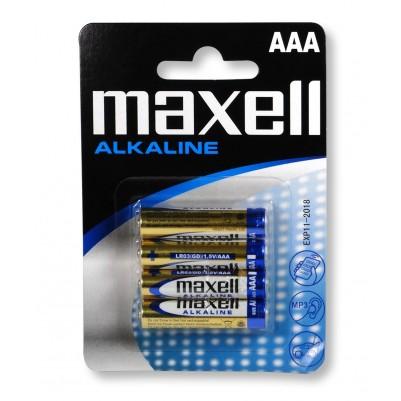 MAXELL Alkaline LR03 AAA Micro 4er Blister