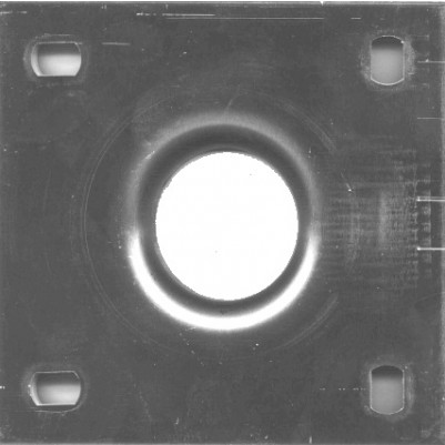 Grundplatte für Winkelmast Alu