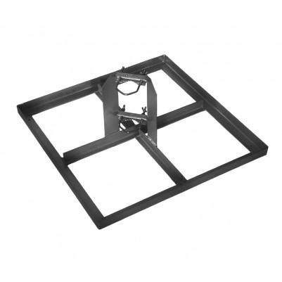 A.S.SAT Stahl-Terassenständer für 4 Betonplatten 30x30 cm ohne Mast