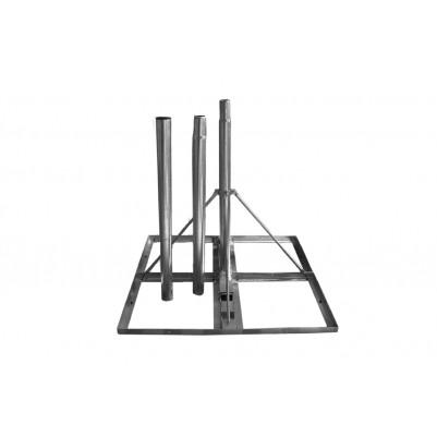 A.S.SAT Terrassenständer / Windradhalter feuerverzinkt mit 3m Steckmast