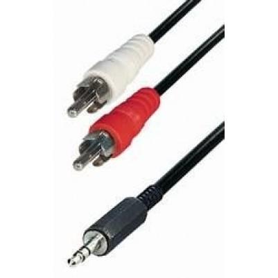 Adapterkabel 3,5mm Klinke / 2xChinch 1,5m
