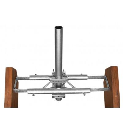 A.S.SAT Dachsparrenmasthalter zwischen 2 Sparren für Masten bis Ø 60 mm verzinkt